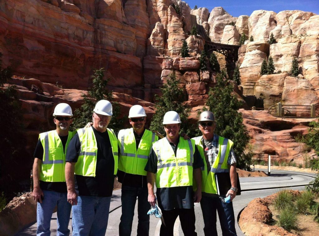 crew at cars land