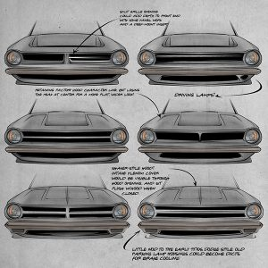 dart grille concept sketches