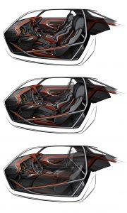 drawing car interiors