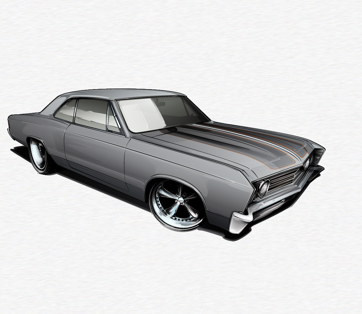 Learn How to Draw a Muscle Car – Round Six