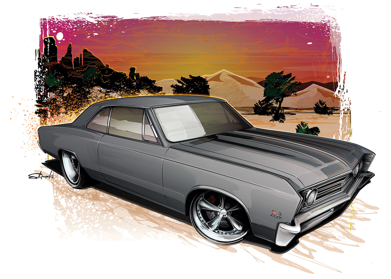 Learn How To Draw A Muscle Car The Round Six Podcast