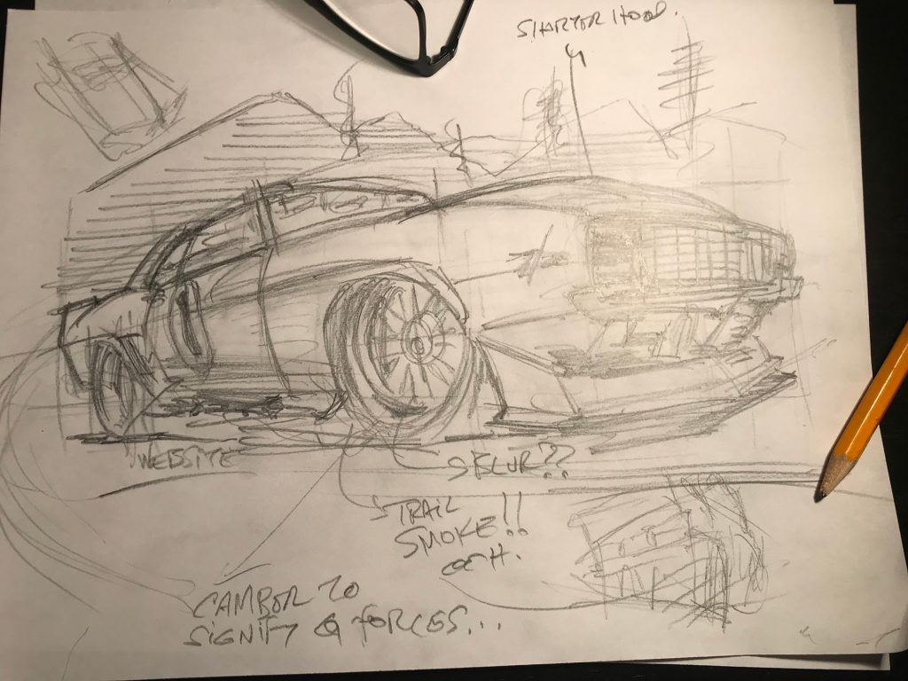 camaro sketch loose