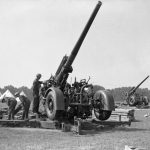 British anti-aircraft guns in position during the V-1 barrage from June to October of 1944