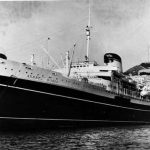 SS Andrea Doria docked at port