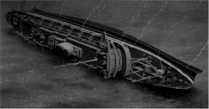 SS Andrea Doria on the sea floor after sinking