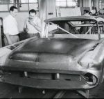 Chrysler Norseman undergoing metal work at the Ghia workshop in Turin