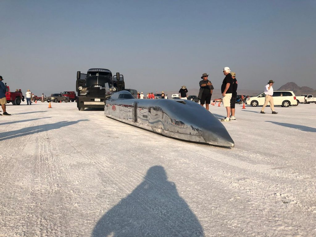 Ed Umland gets ready to make a run at the 2018 Bonneville Speed Week.