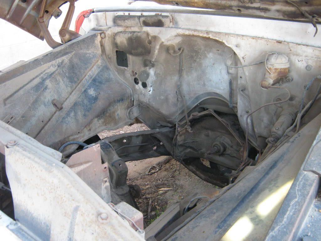 1964 Chevrolet truck under hood shot