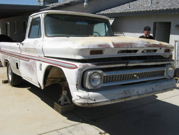 1964 Chevy truck, suspension removed