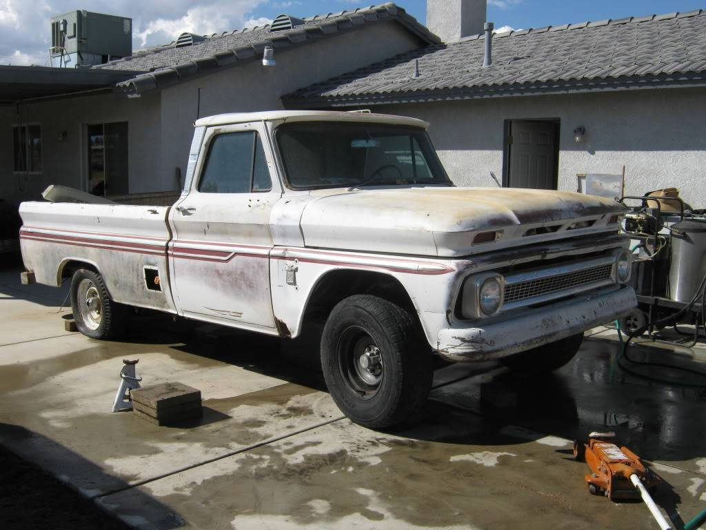 1964 Chevy truck, with a 1979 front suspension installed