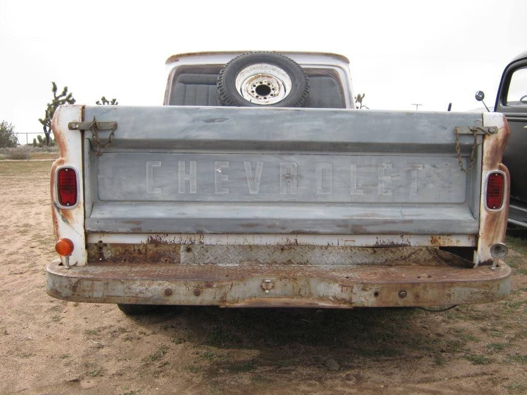 64 Chevy truck with a 63 tailgatre