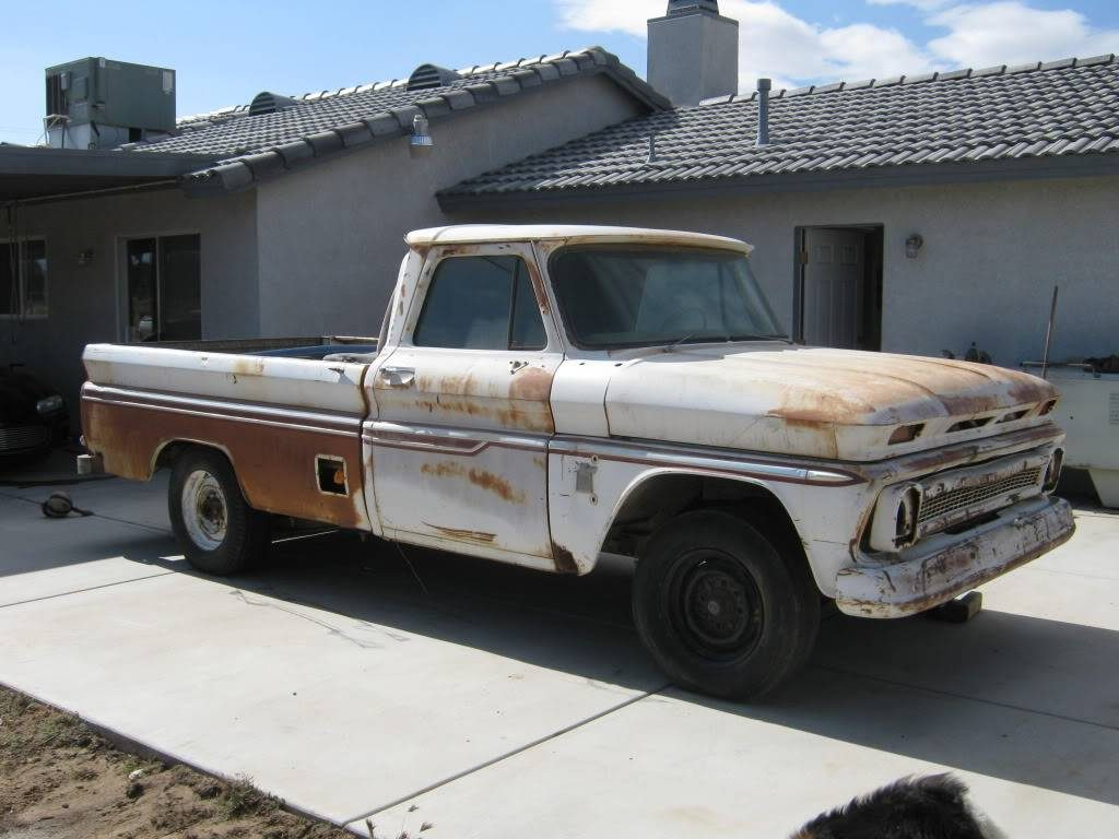 64 Chevy truck after washing