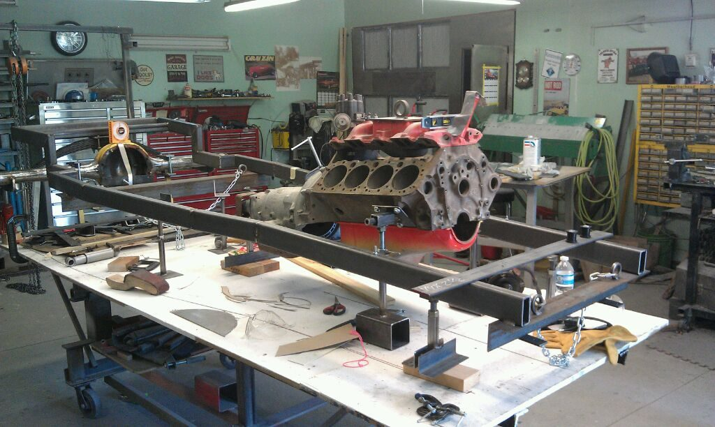 Fabbing the chassis for Victoria's '27 T roadster