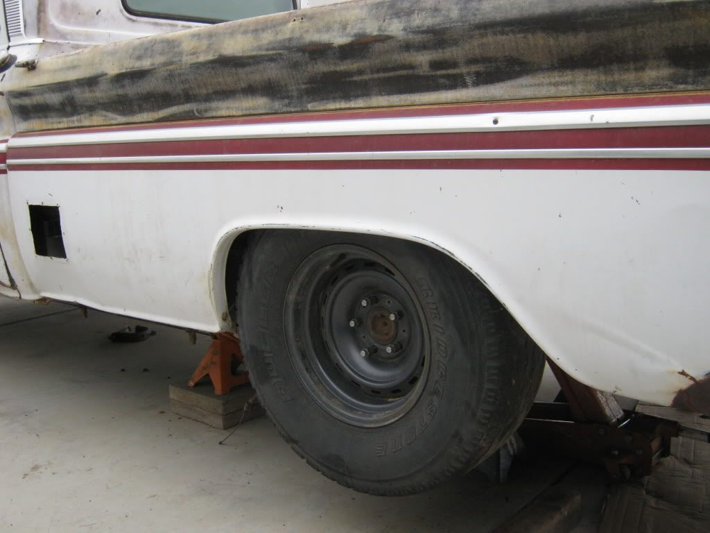 1964 Chevy truck with a 1979 Suburban 12 bolt rear axle