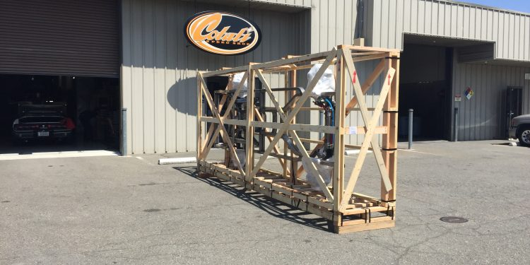 chassis in crate