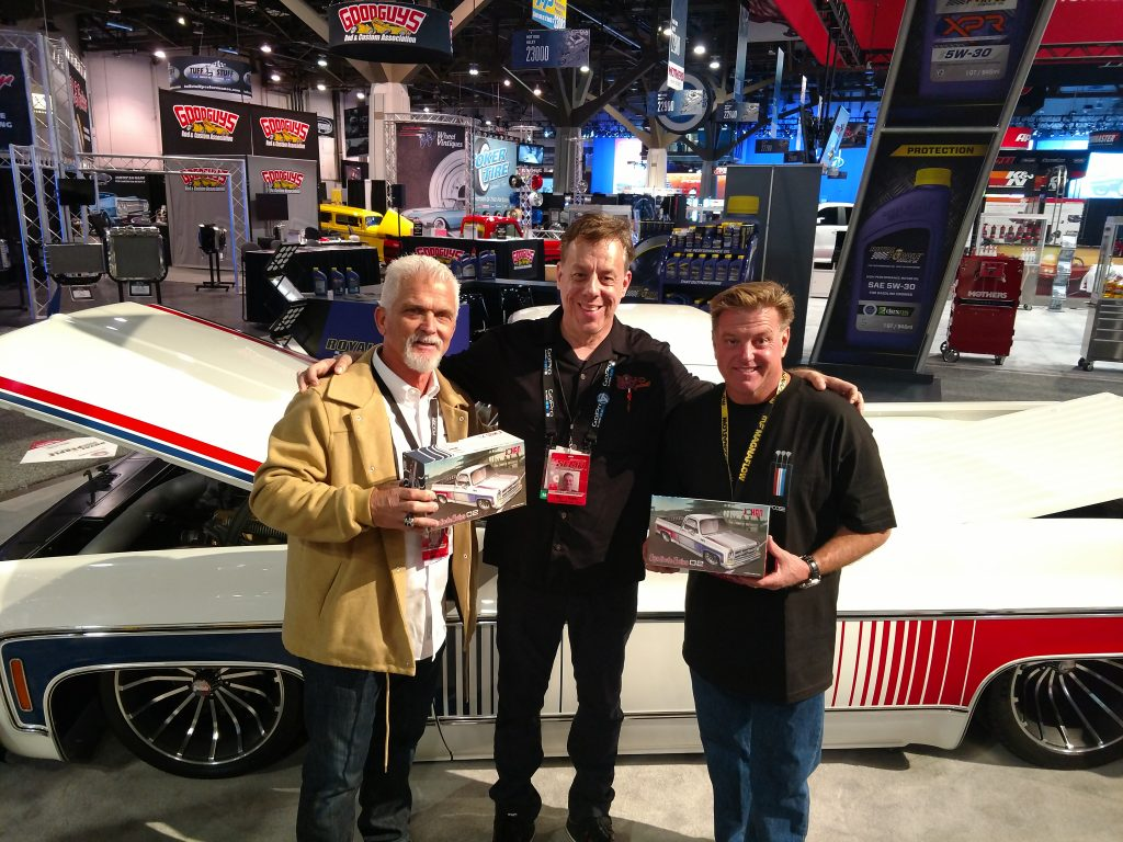 Carson Lev and Chip Foose at SEMA 2018