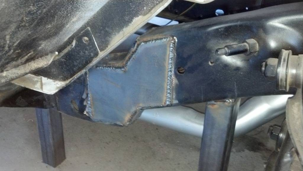 1964 Chevy truck frame, with boxing plates added.