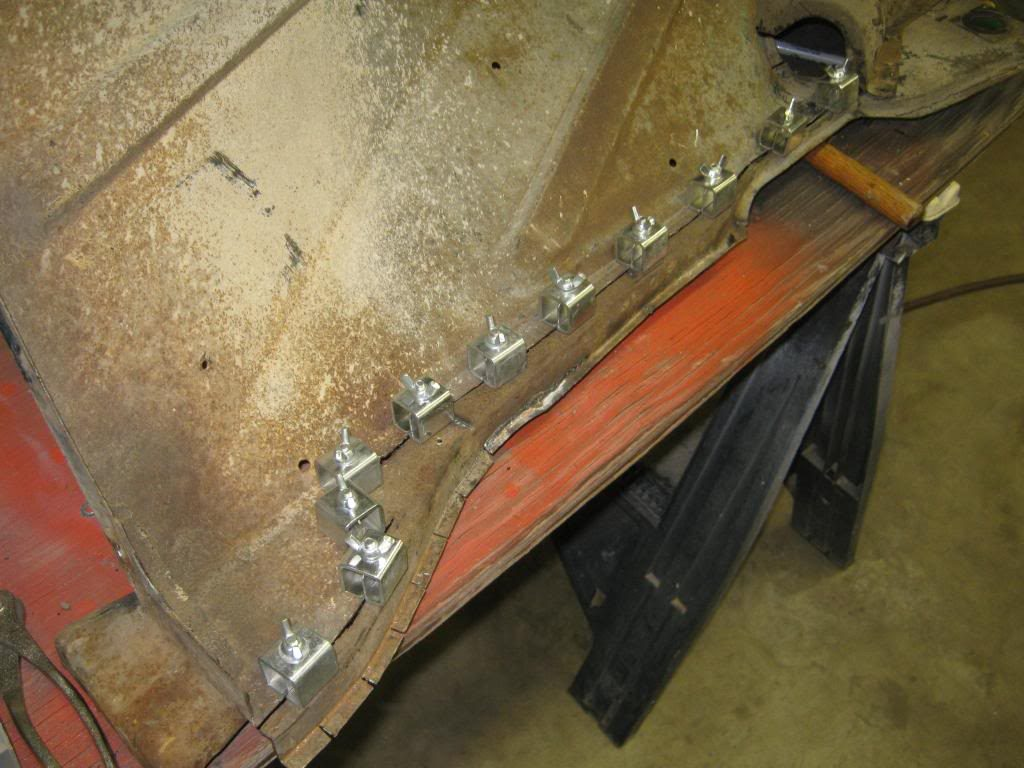 chevy truck inner fender with weld blocks