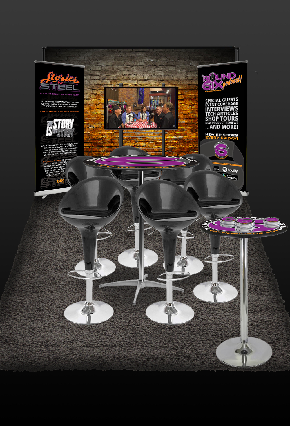 trade show booth design rendering