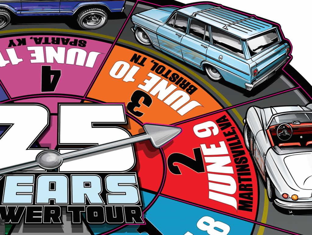 power tour 2019 game board magnet detail