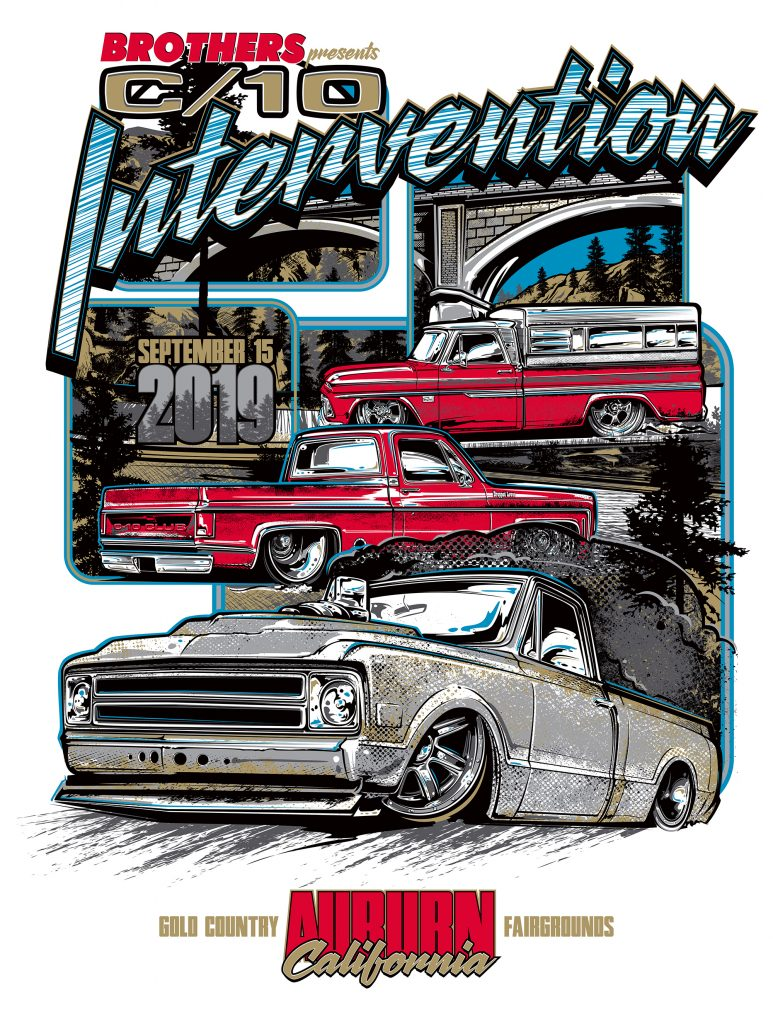 C-10 Intervention poster amd t-shirt art by Brian Stupski