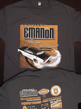 project challenger t-shirt